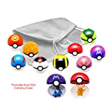 Kool KiDz 9 Pieces Different Style Ball +9 Pieces Figures Plastic Super Anime Figures Balls for Pokemon Kids Toys Balls