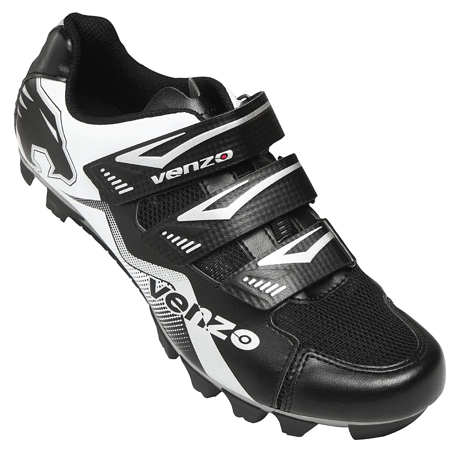 Venzo Mountain Men s Bike Bicycle Cycling Shoes – Compatible for Shimano SPD Cleats – Good for Spin Cycle, Off Road and MTB