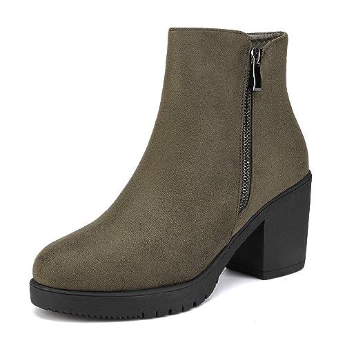 BeMeesh Zapatos Mujer Plataforma Tipo BotaChelsea con Tac/ón