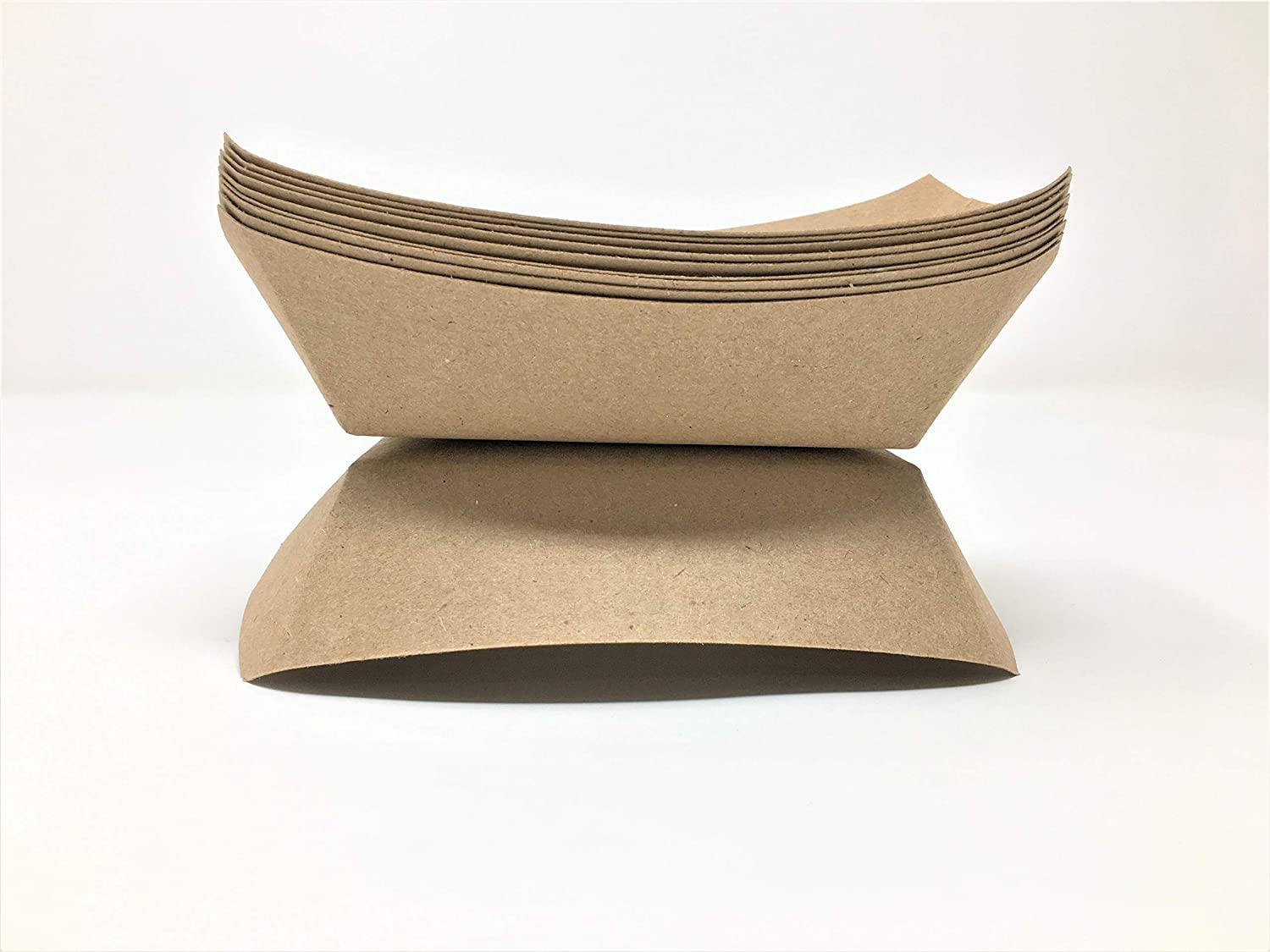 Mr. Miracle Kraft Paper 1/2 Pound Food Tray. Pack of 250. Disposable, Recyclable and Fully Biodegradable. Made in USA