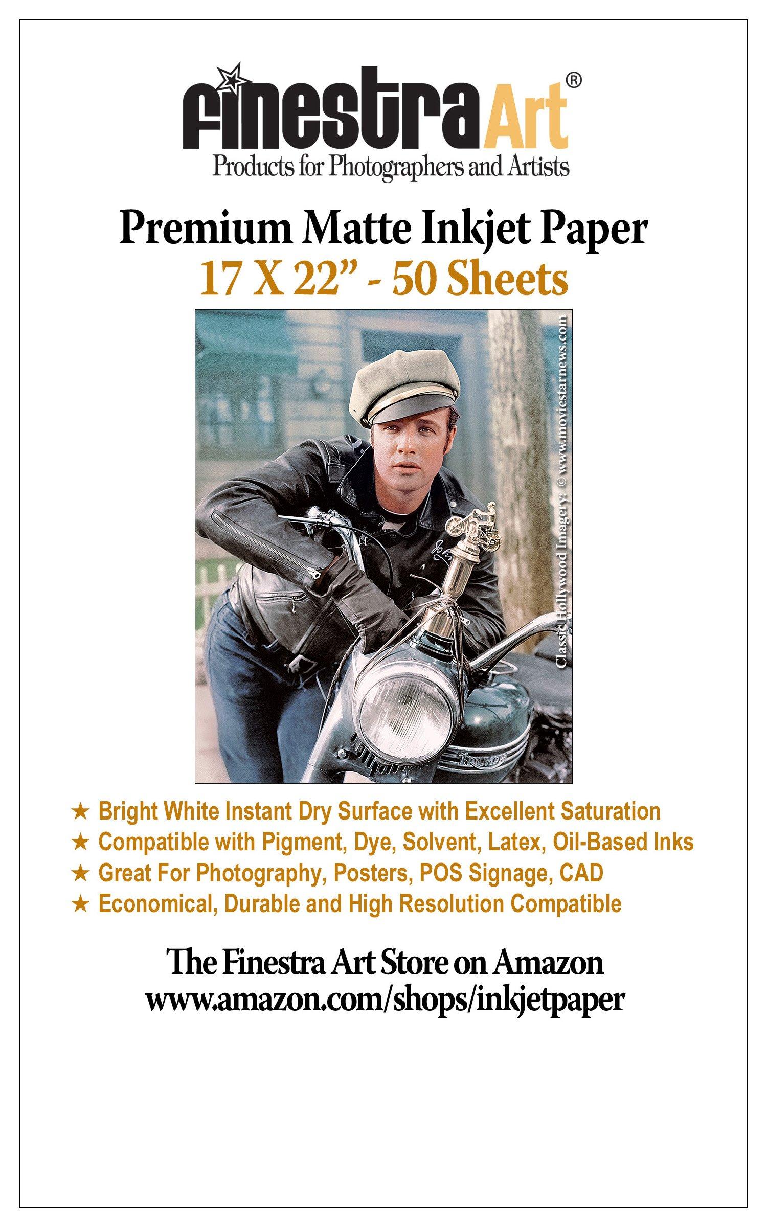 17x22 50 Sheets Premium Arctic Matte Inkjet Photo Paper 230gsm