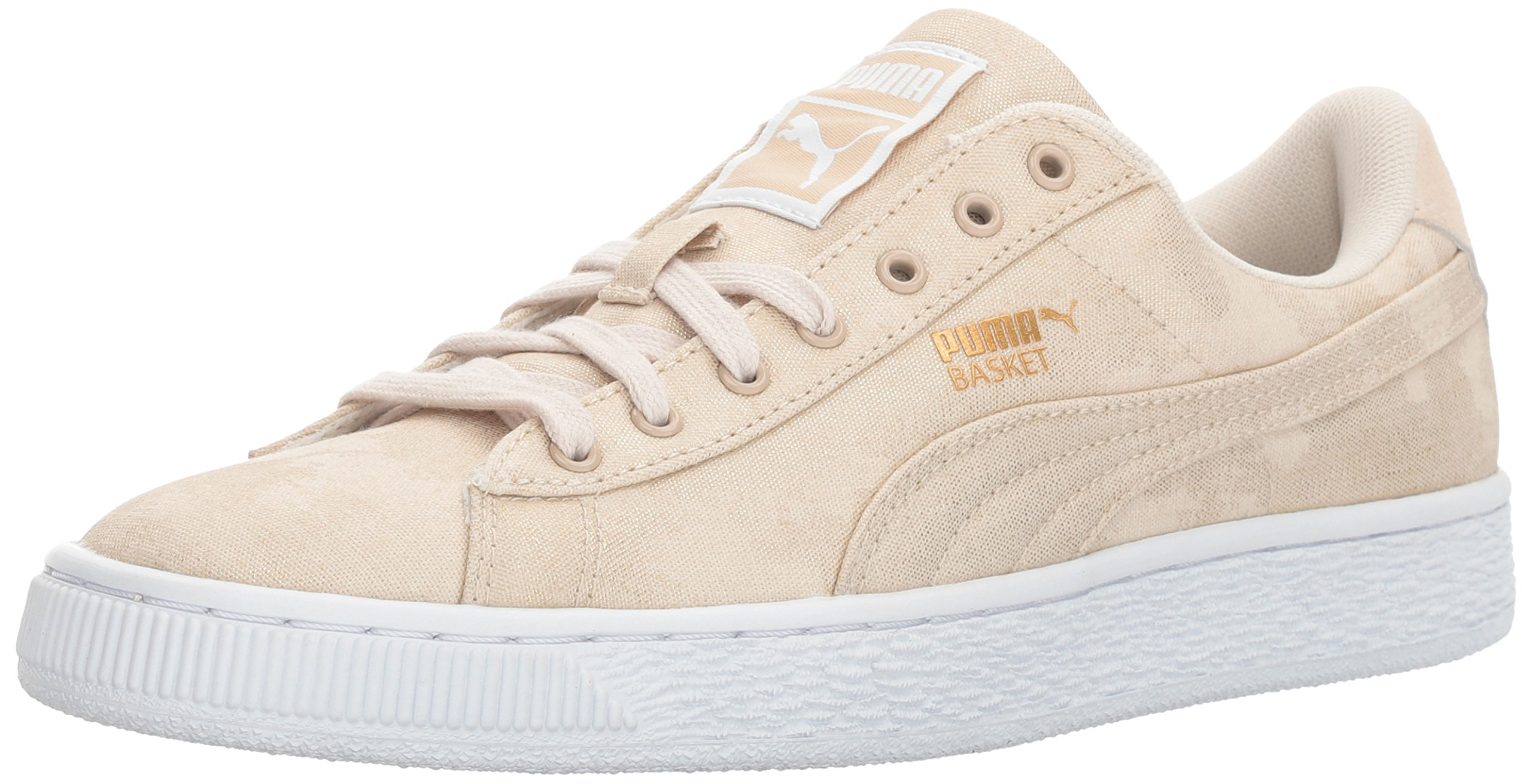 PUMA Women's Basket Denim WN's Field Hockey Shoe Oatmeal White, 8.5 M US