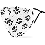 Weddingstar Washable Cloth Face Mask Reusable and Adjustable Protective Fabric Face Cover w/Dust Filter Pocket - Paw…