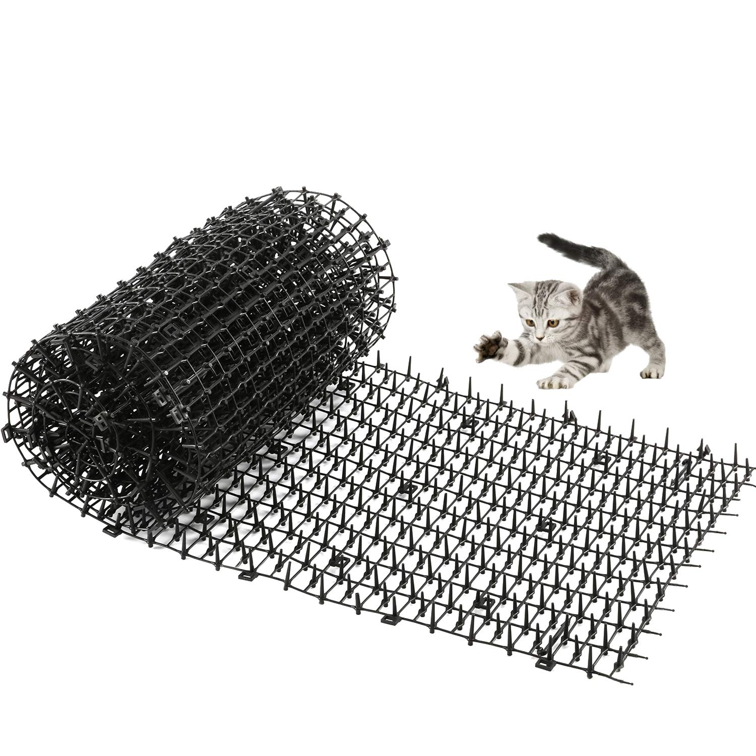 One Sight Scat Mat with Spikes for Cats Dog Digging Deterrent Outdoor Mats for Garden and Fence Cats Stopper Network
