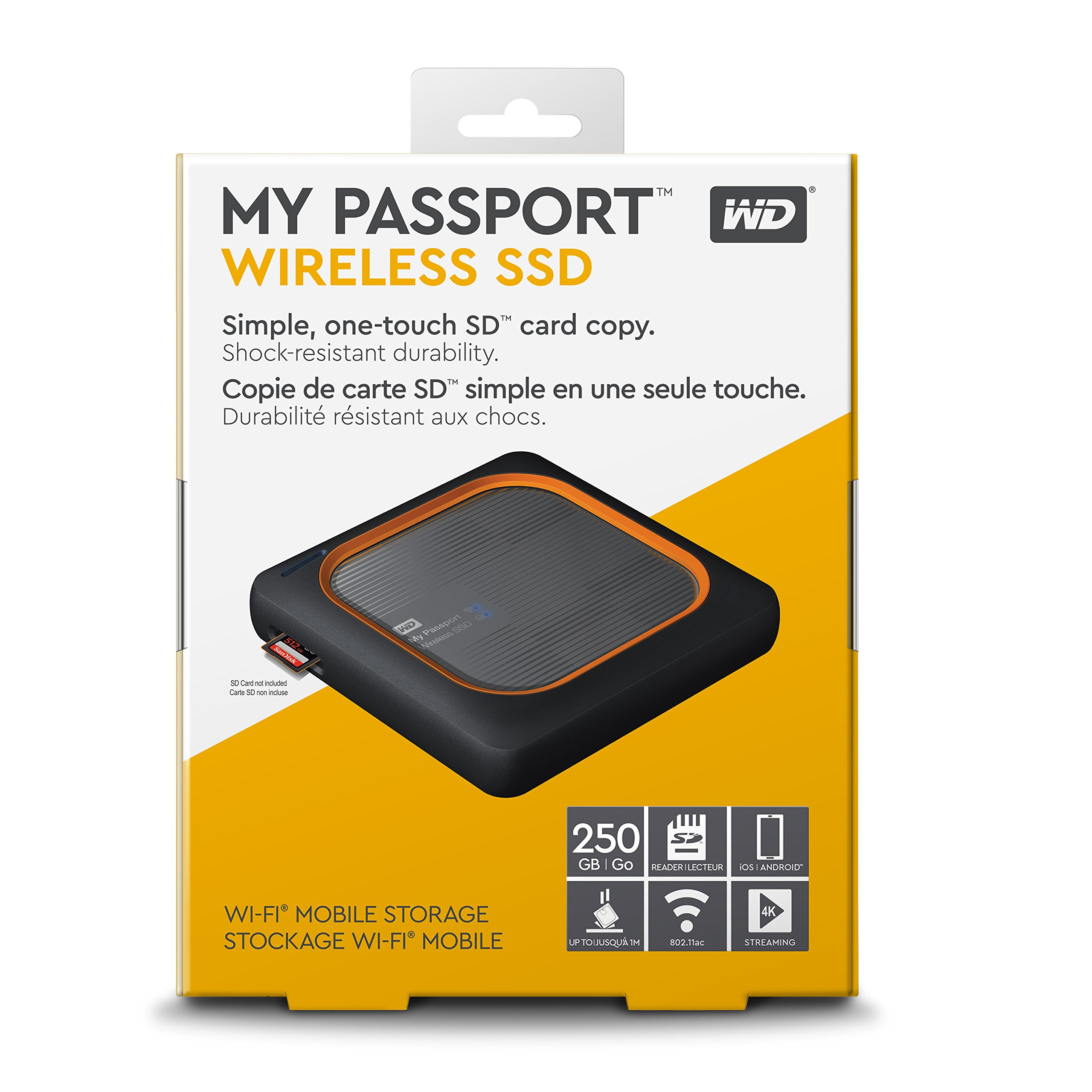 WD 250GB My Passport Wireless SSD External Portable Drive - WiFi USB 3.0 -WDBAMJ2500AGY-NESN by Western Digital (Image #6)