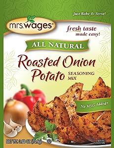 Mrs. Wages Roasted Onion Potato Seasoning Mix (VALUE PACK of 12)
