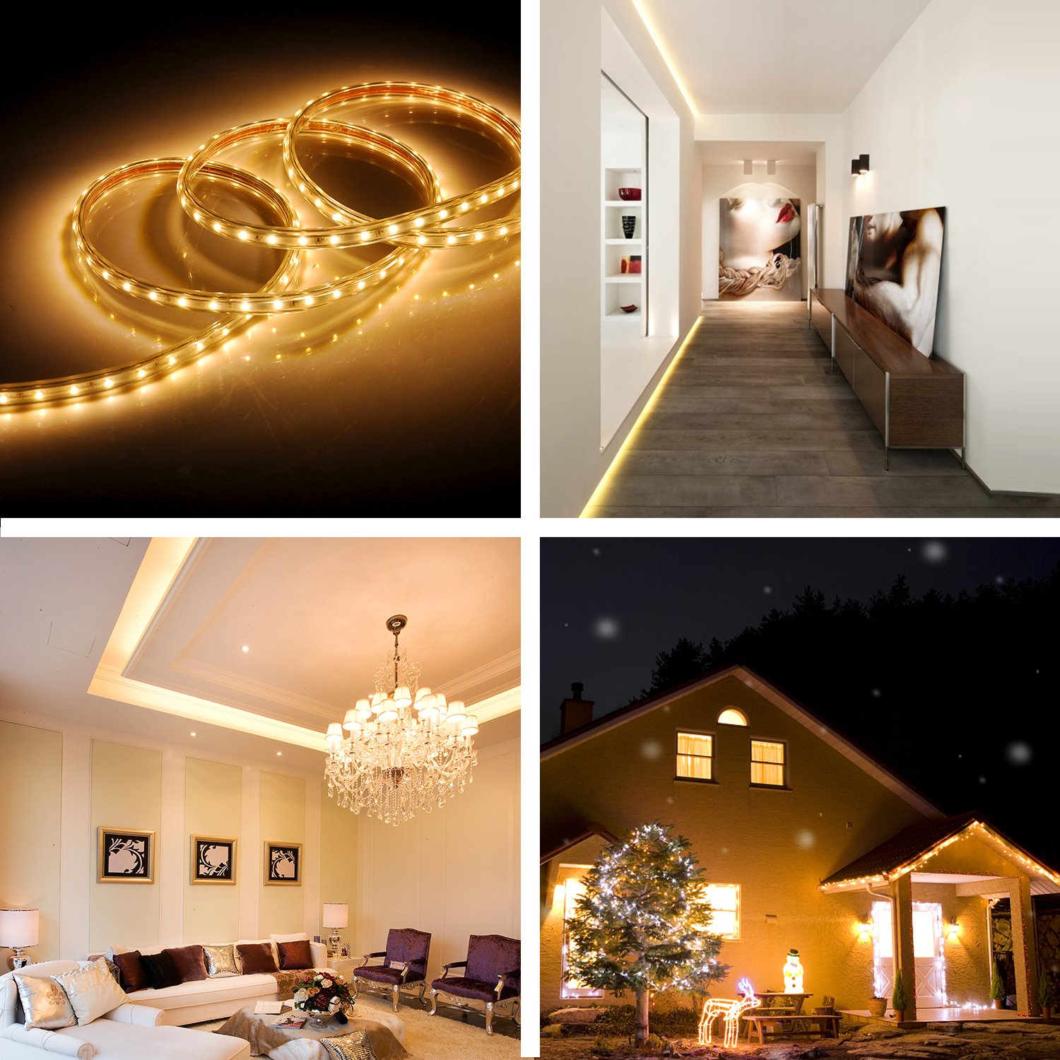 2019 New Design Warm White USB LED Light Strip Kit with 6.6FT 2M SMD 3528 IP65 Waterproof Super Bright LED Tape Light Battery Operated LED Strip Lights Battery Case iCreating