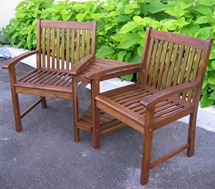 International Caravan Double Corner Patio Chair
