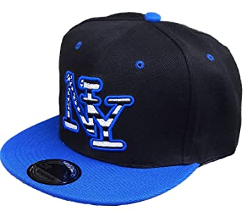 Snap Back Gorra de béisbol, diseño New York, para mujer y hombre, Estados Unidos, negro azul, Einheitsgröße mit verstellbarem Verschluss hinten: Amazon.es: ...
