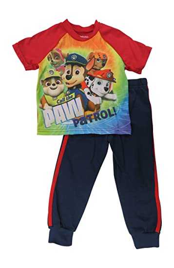 acff430c2e Nickelodeon Boys Infant Toddler Paw Patrol 2-Piece Pajama Set Red (12  Months)
