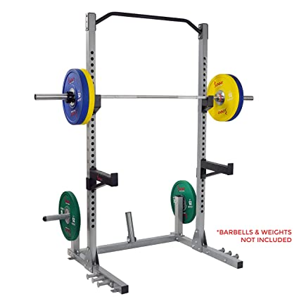 Sunny Health Fitness Power And Squat Rack With High Weight Capacity Olympic Plate