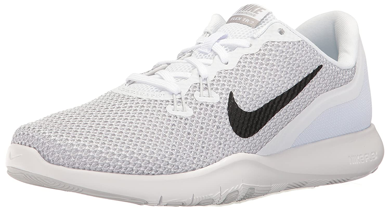 MultiCouleure (blanc Metallic argent Pure Platinum 100) Nike Flex Trainer 7, Chaussures de Running Compétition Femme 37.5 EU