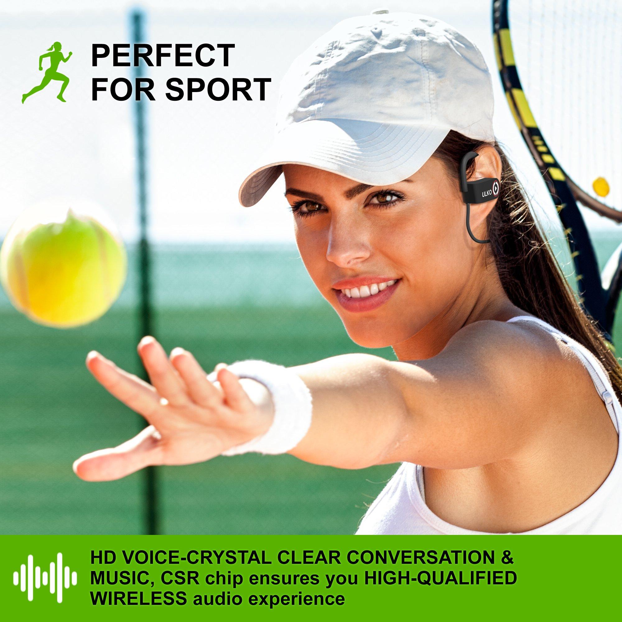 Wireless Headphones | Best Wireless Earbuds |Wireless Workout Earphones | Running Workout Sport Headphones | Sweatproof HD Stereo Earbuds | Noise Cancelling Headset Sports for Women Men Mic 9 Hours