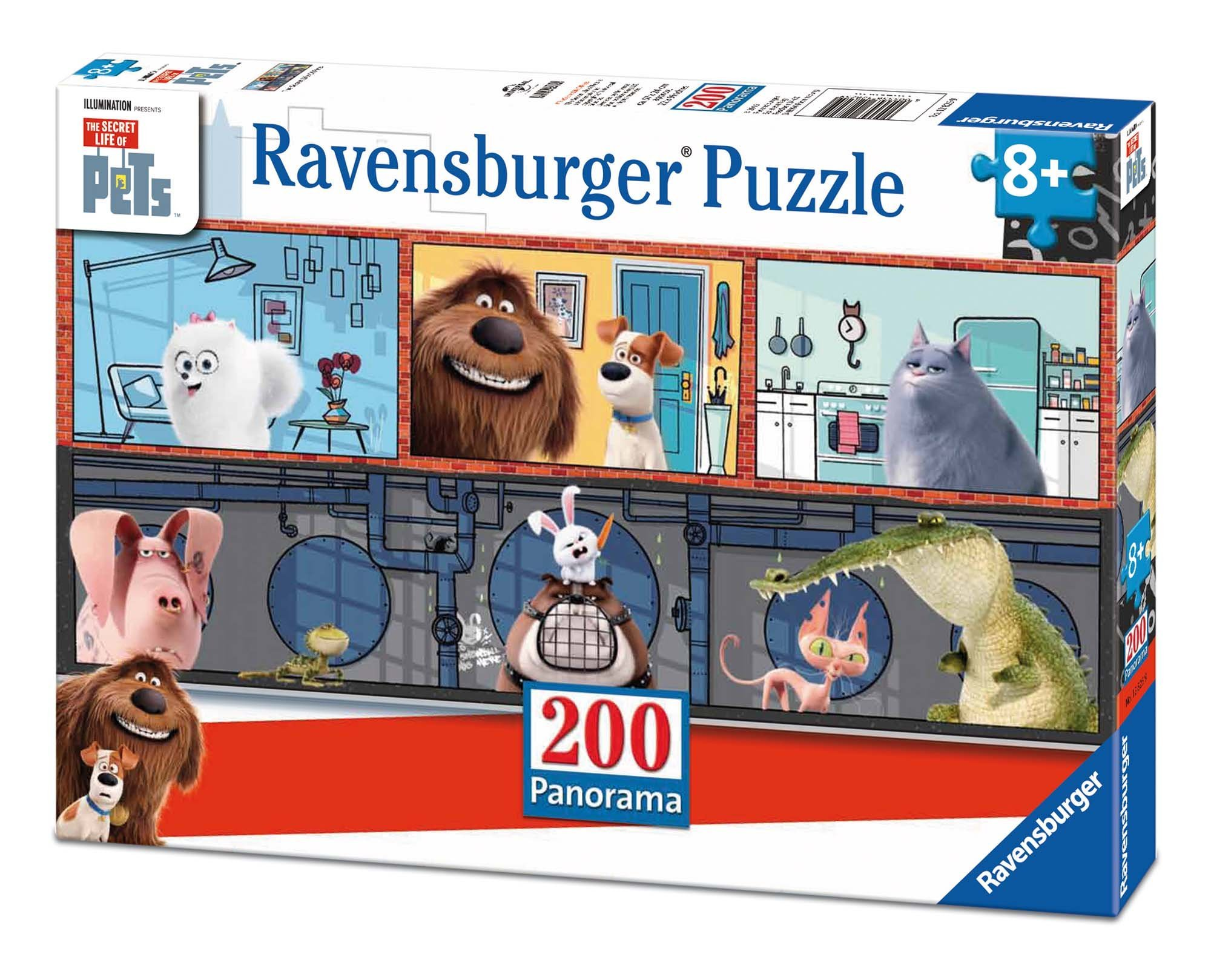 Ravensburger The Secret Life of Pets Panorama 200 Piece Jigsaw Puzzle for Kids - Every Piece is Unique, Pieces Fit Together Perfectly by Ravensburger