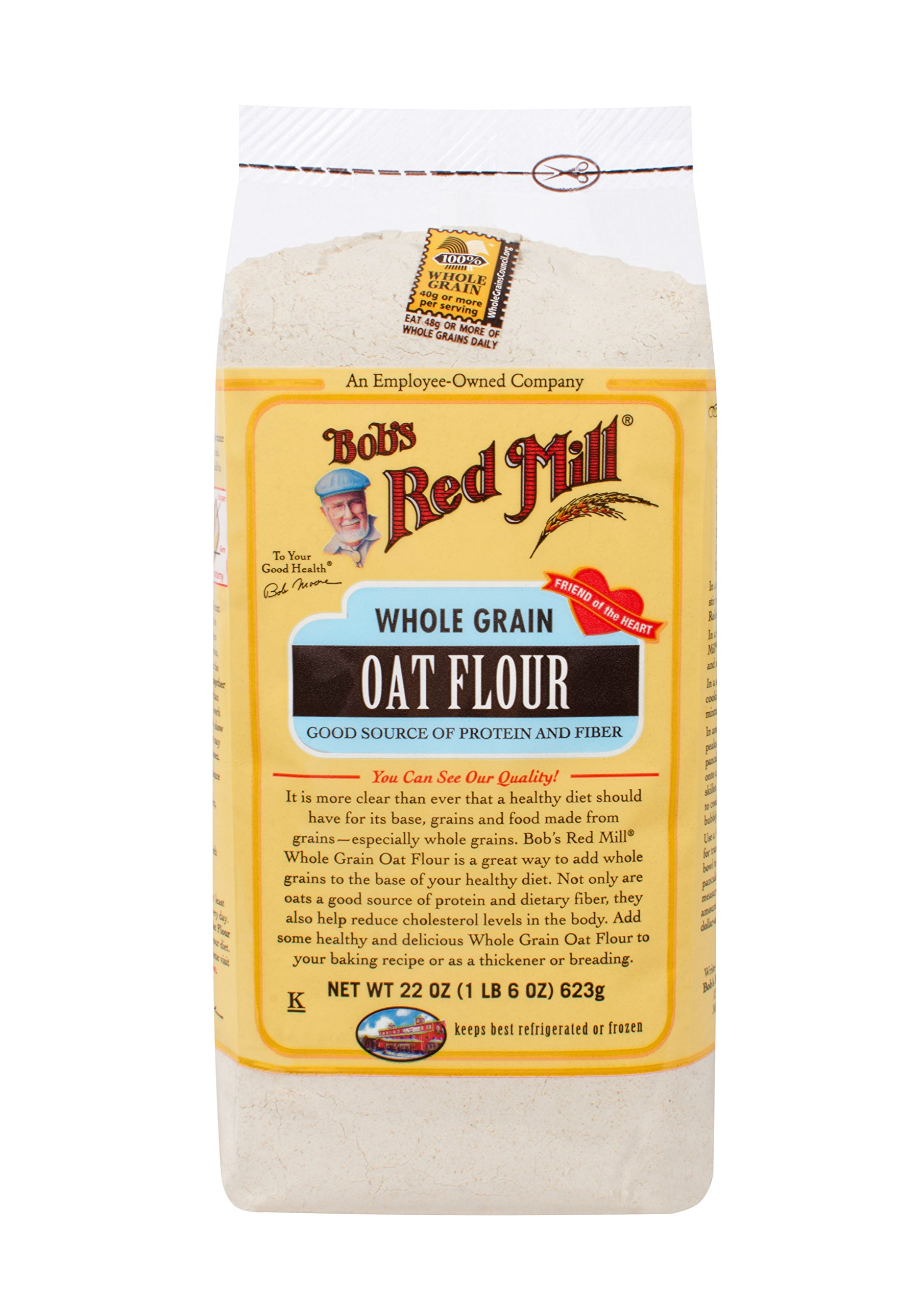 Amazon.com : Bob's Red Mill Whole Grain Oat Flour, 25