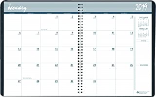 product image for House of Doolittle 2019 Calendar Planner, Monthly, December 2018-January 2020, Wire-Bound with Graphite Cover (HOD26213-19)