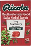 Ricola Cranberry Sugar Free Swiss Herb Drops 45 g (Pack of 10)