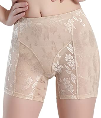 9532de8108ef Junlan Women's Shapewear Butt Lifter Padded Panty Body Shaper Hip Enhancer  (S, Beige)