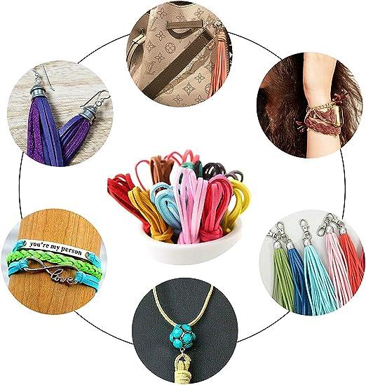 Cuerda de Cuero 40 piezas Cordón de Ante 3mm*1m Multicolor Cordón de Ante Falso para Bricolaje Pulsera Abalorios Fabricación de Bisutería 20 Colores: Amazon.es: Hogar