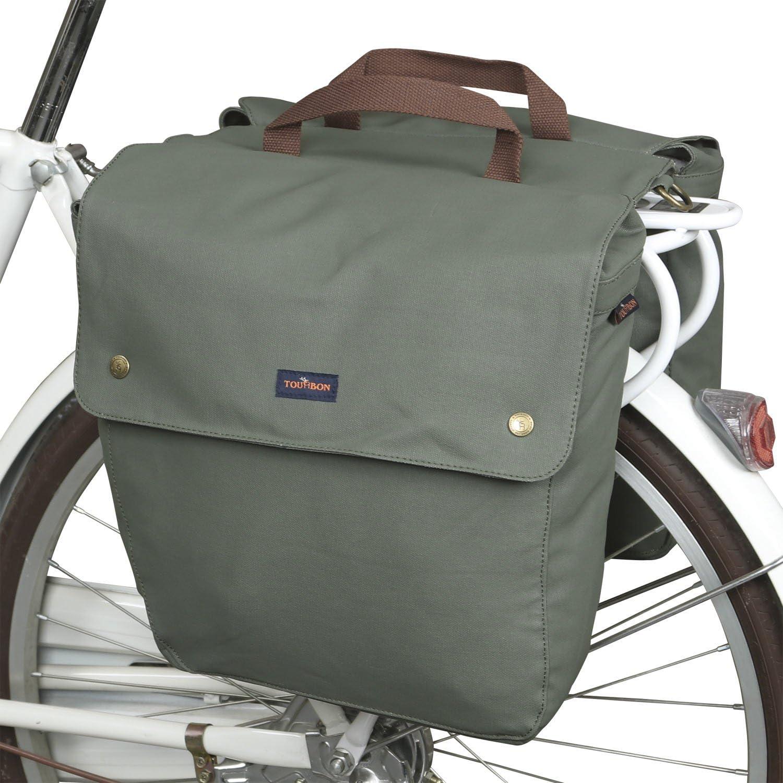 Tourbon Lona Impermeable para Bicicleta Asiento Trasero Carrier Bolsa de Almacenamiento de Equipaje Bolsa de Bicicleta Doble alforja Enrollable Trasero