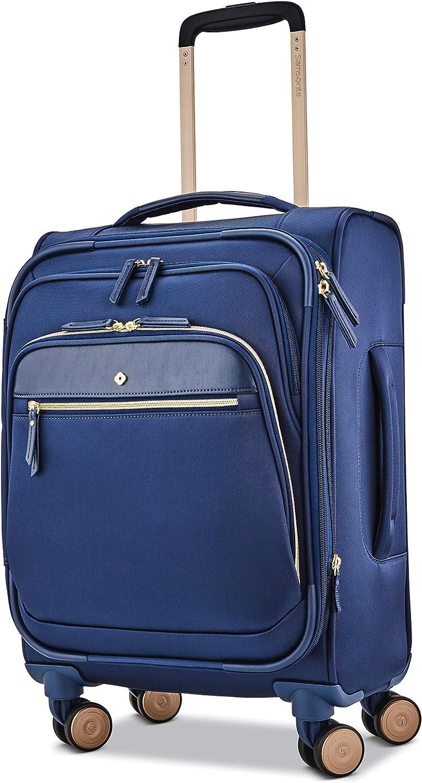 Samsonite Women's Mobile Solution Business Travel (Navy Blue, Expandable 19-inch Spinner)