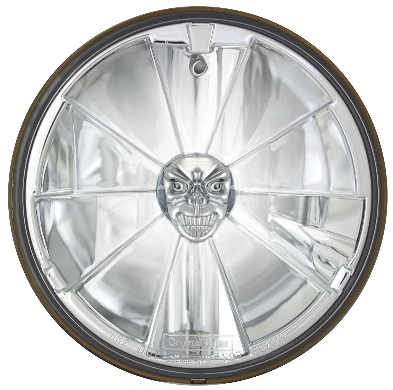 Amazon Adjure T70X00 SR 7 Iron Cross Skull Bulb Cover Motorcycle Headlight With H4 Automotive