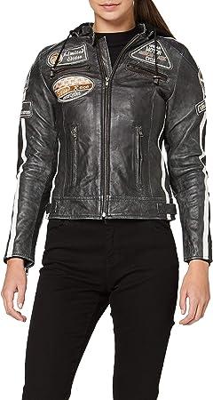 Tan Urban Leather 58 Giacca Moto da Donna con Imbottitura Protettiva Taglia M