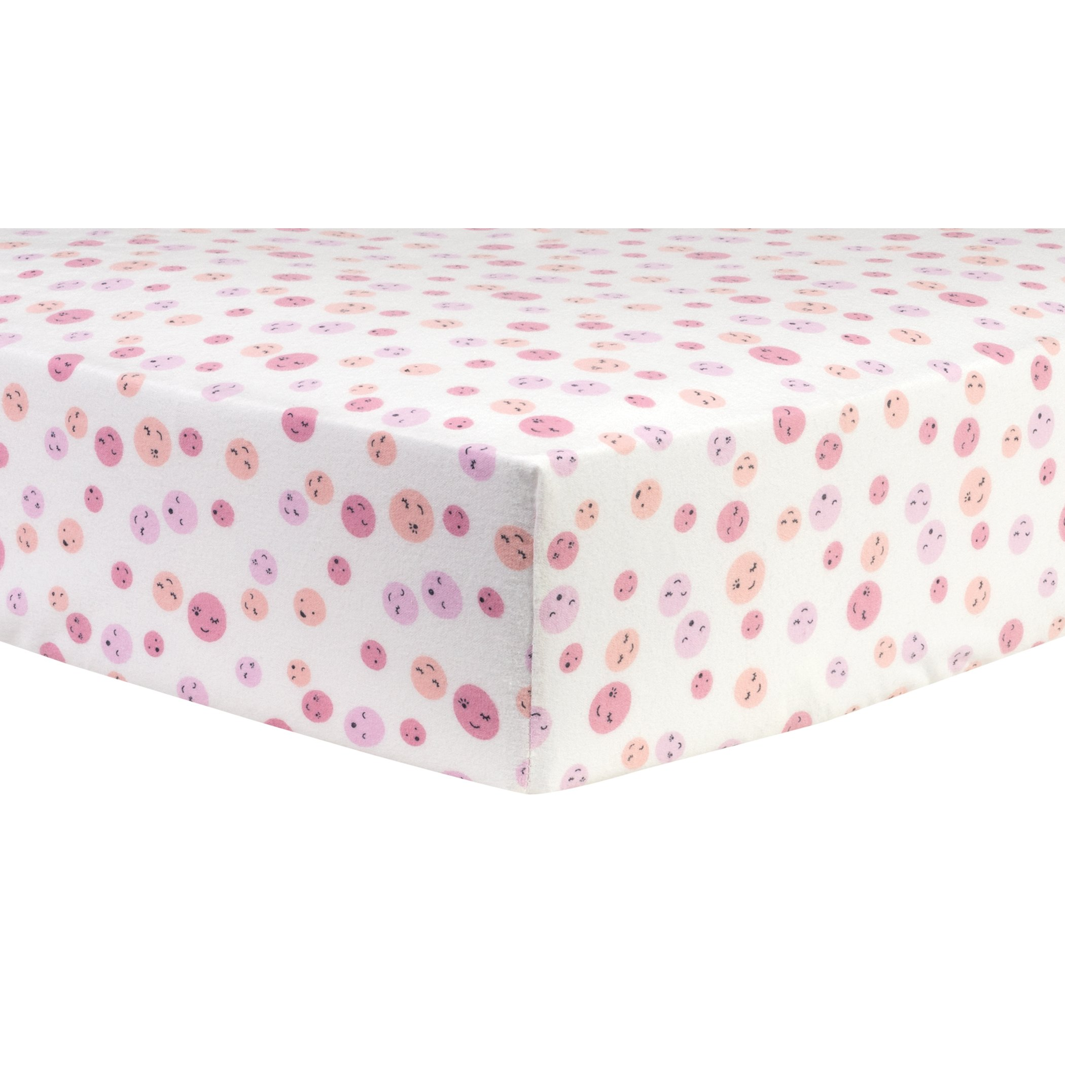 Trend Lab Be Happy Deluxe Flannel Fitted Crib Sheet