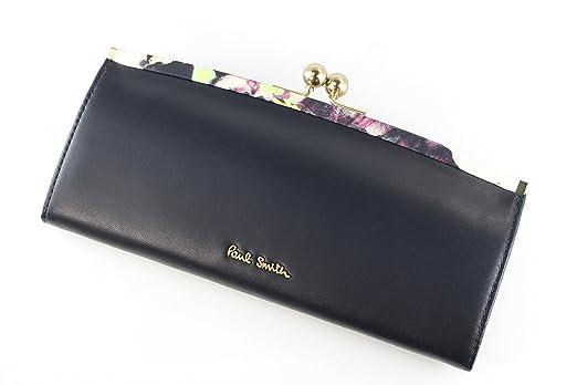 3c1b894d05d75c Amazon.co.jp: ポールスミス 財布 レディース がま口長財布 ネイビー ...