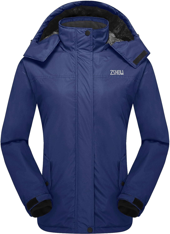 ZSHOW Women's Mountain Waterproof Ski Jacket Fleece Snow Jacket Raincoat