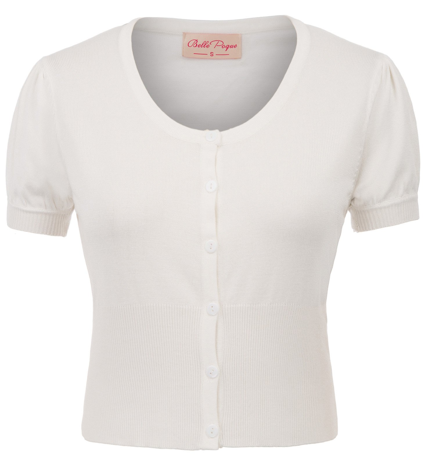 Womens Button Down Cardigan Short Sleeve Bolero Sweater M BP707-2
