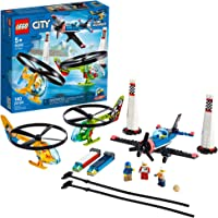 LEGO City Air Race 60260 Flying Helicopter & Airplane Toy, Features 2 Ripcord Helicopters, Stunt Plane Aircraft Toy, 2…