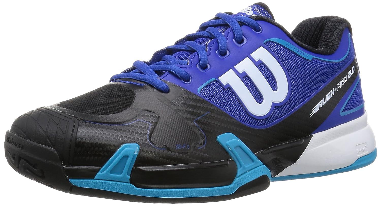 [ウイルソン] WILSON ウイルソン Wilson テニスシューズ RUSH PRO 2.0 B015S21A1W 27.0 cm E|サーフザウェブxブラックxスキューバブルー