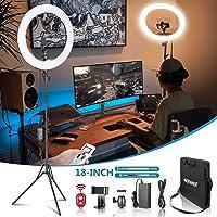 Neewer 2,4 G 18 cali oświetlenie pierścieniowe LED, Bi-Color 3200-5600 K, przyciemniane z ekranem LCD, zdalne sterowanie…