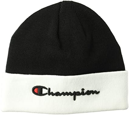 Amazon.com  Champion LIFE Men s Script Beanie dd6fc0b931b