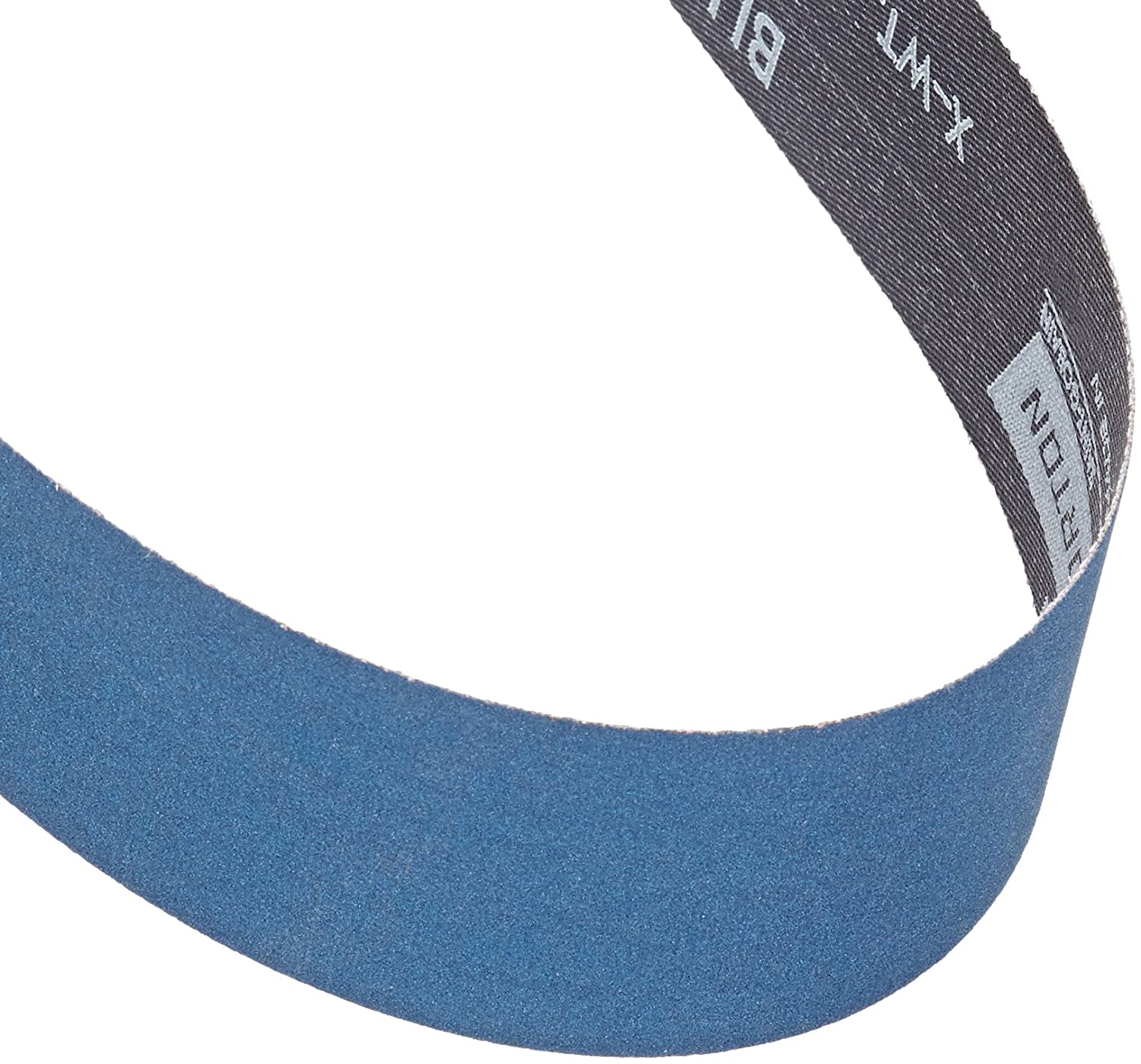 Grit 120 Zirconia Alumina Norton BlueFire R823P Benchstand Abrasive Belt Pack of 5 Polyester Backing Waterproof 42 Length 1 Width