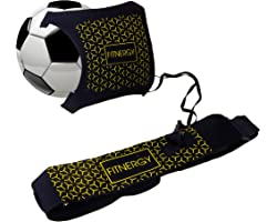 F1TNERGY Soccer Kick Ball Hands Free Solo Trainer by Adjustable Waist Belt Fits Ball Size 3,4 & 5 - Throw Football Practice T