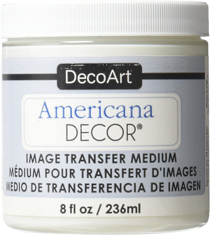 Deco Art Image Transfer Medium Paint, 8-Ounce, Clear