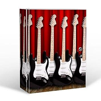 banjado Botiquín abschließbar/35 x 46 x 15 cm Grande/Metal Blanco con diseño de Guitarra eléctrica: Amazon.es: Hogar