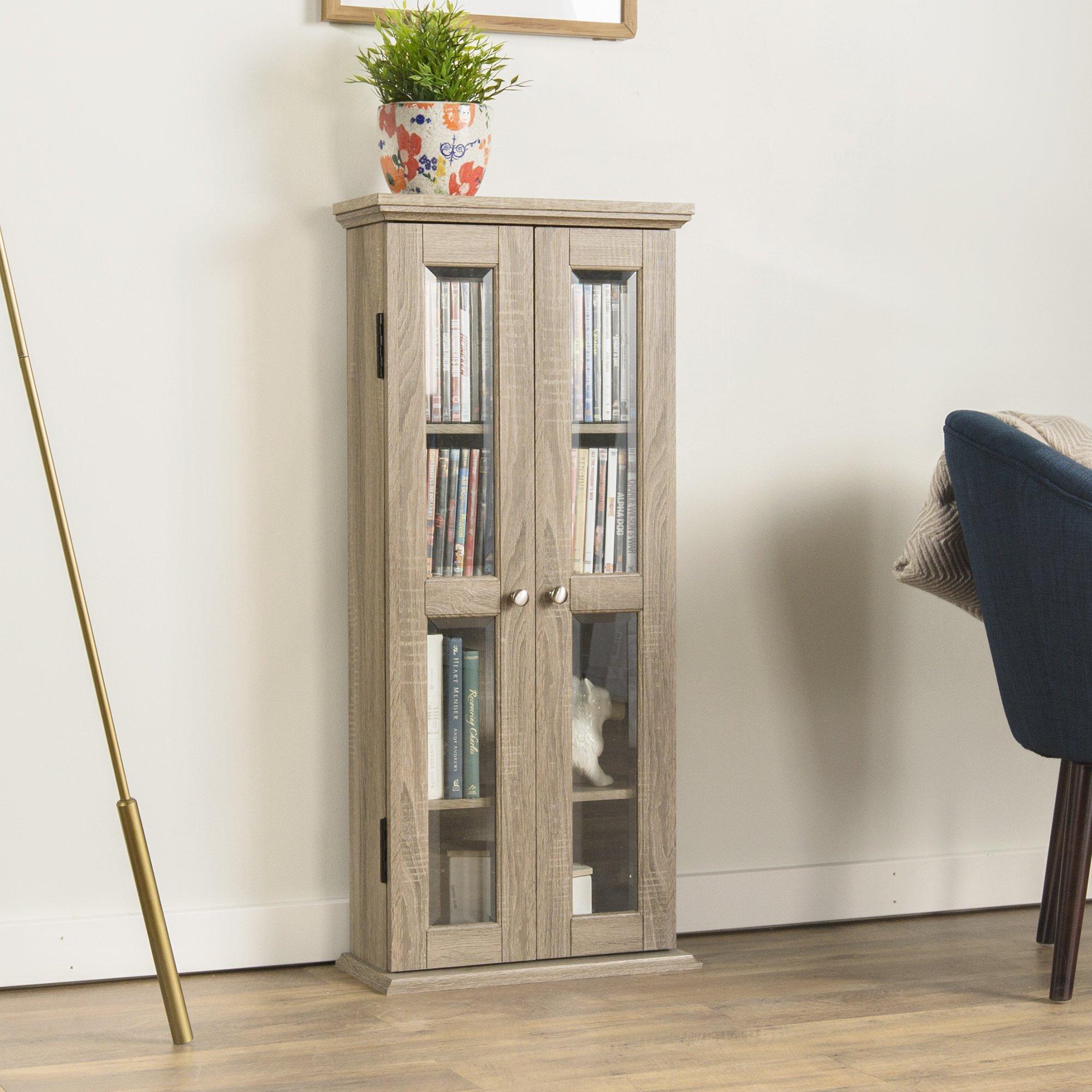 WE Furniture 41'' Wood Media Cabinet - Driftwood