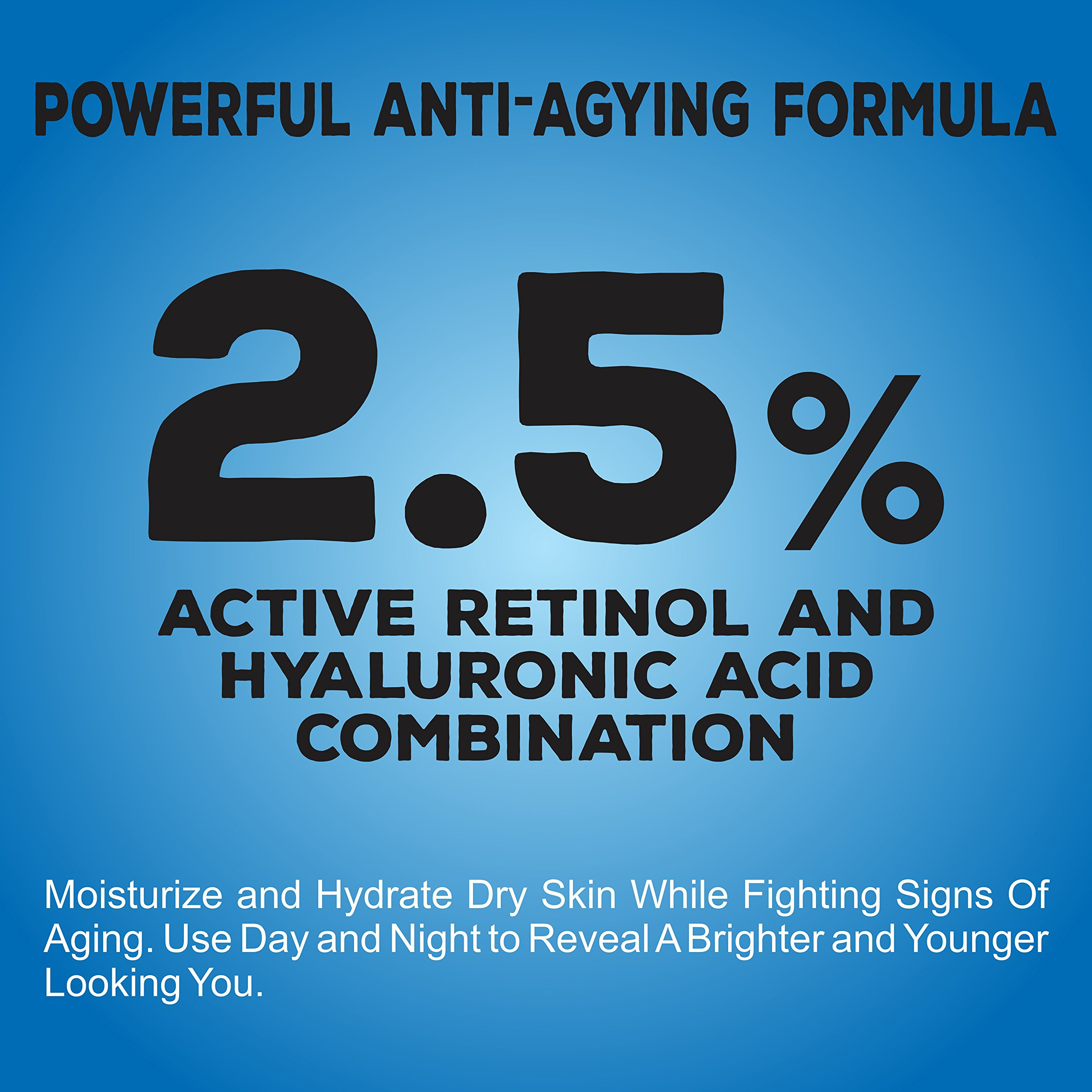 Retinol Moisturizer Cream for Face and Eye Area - Made in USA - with Hyaluronic Acid, Vitamin E - Best Day and Night Anti Aging Formula to Reduce Wrinkles, Fine Lines & Even Skin Tone. by FineVine (Image #4)