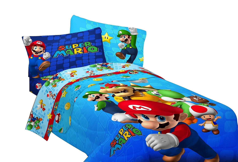 Amazon com  Nintendo Super Mario Fresh Look Sheet Set  Full  Home   Kitchen. Amazon com  Nintendo Super Mario Fresh Look Sheet Set  Full  Home