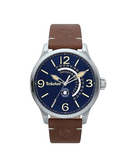 Timberland Reloj Análogo clásico para Hombre de Cuarzo con Correa en Cuero TBL.15419JS/03: Amazon.es: Relojes