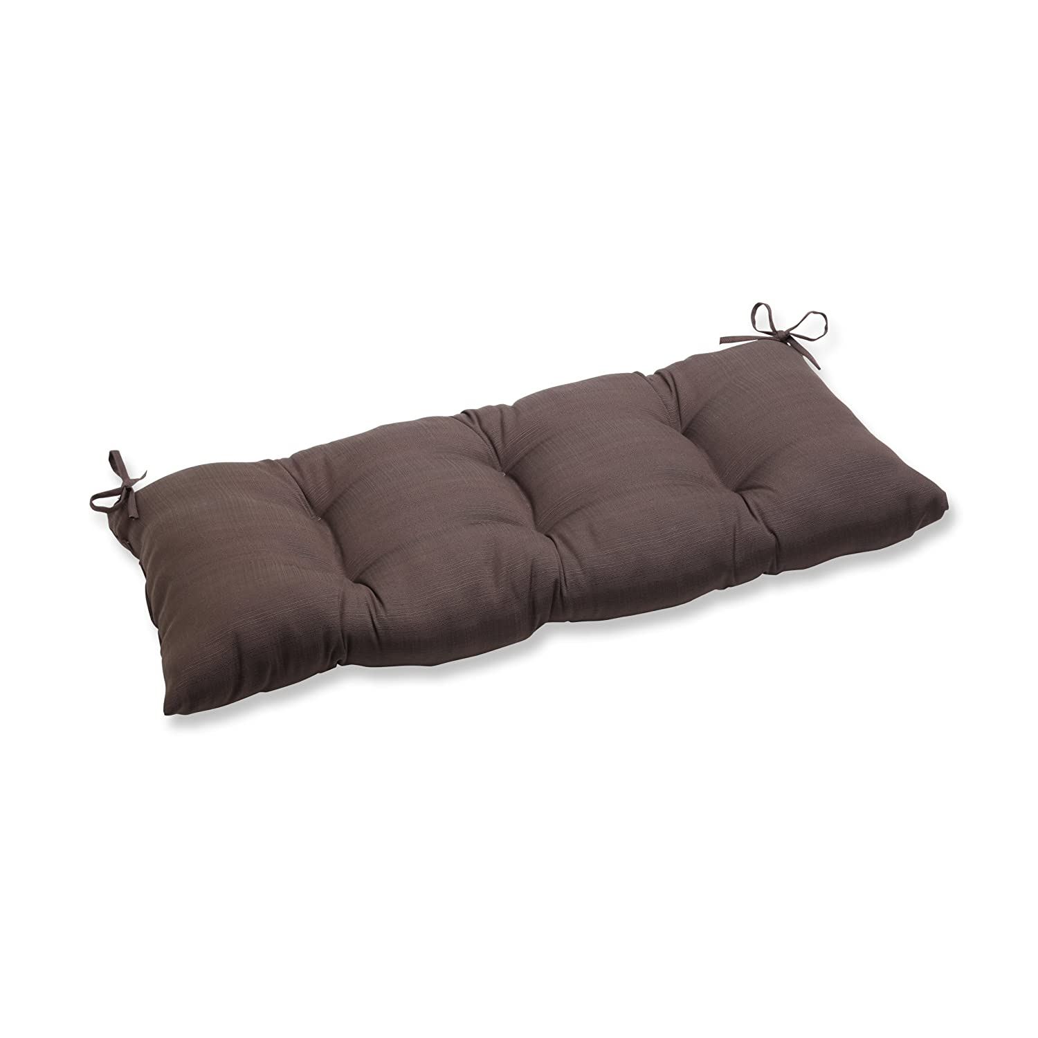 Pillow Perfect Indoor Outdoor Forsyth Chocolate Swing Bench Cushion