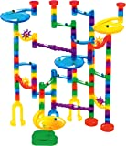 Marble Genius Marble Run Starter Set - 130 Complete Pieces + Free Instruction App (80 Translucent Marbulous Pieces + 50…