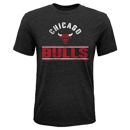 c07b491ca94a Outerstuff NBA NBA Youth Boys Chicago Bulls Double Bar Short Sleeve  Tri-Blend Tee