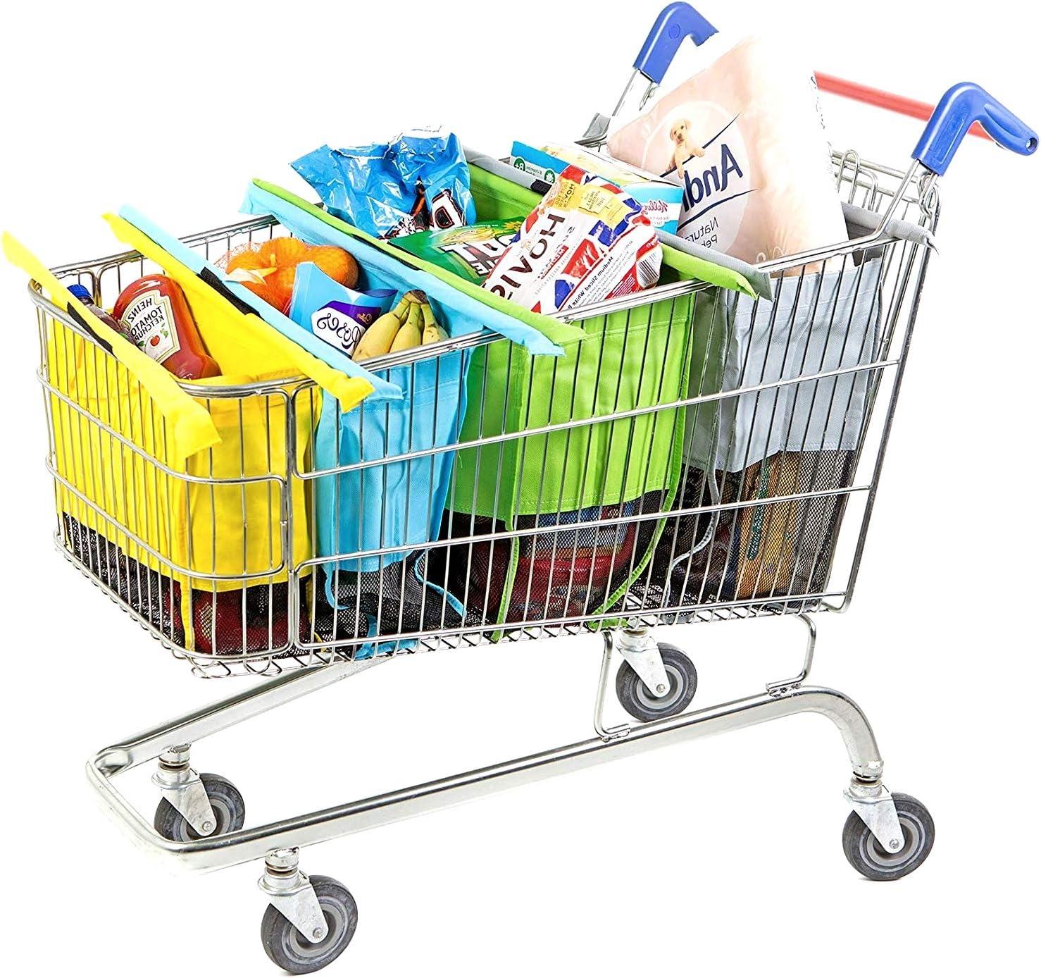 MAHIKAN® – Juego de 4 Bolsas para la Compra – Ideal para organizar ...