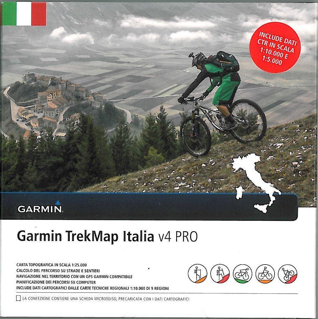Neu TrekMap Italia v4 Pro italien microSD Vektorkarte 2016 topo
