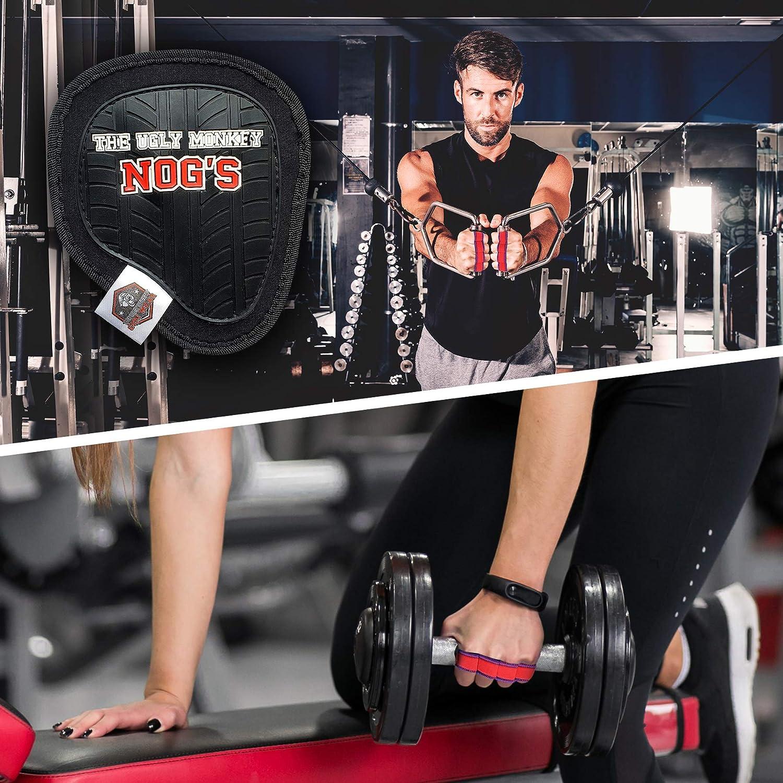 THE UGLY MONKEY GYM WEAR Gants Musculation Gymnastique Homme Femme Gymnase Remise en Forme Antid/érapant Entra/înement Grip Muscle Lavables Anti-Odeur Grip Pads Crossfit