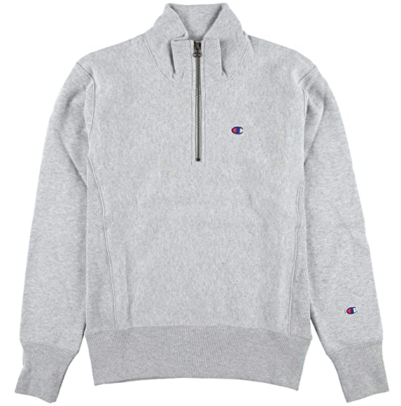 c08e2e2ec872 Champion Reverse Weave Half Zip Sweatshirt Oxford Grey - Medium   Amazon.co.uk  Clothing